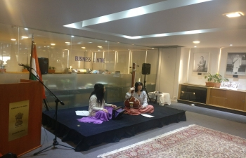 Bhajans and photo exhibition on Mahatma Gandhi,  as a part of the celebrations of International Day of Non violence at the Embassy of India