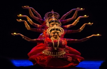 Ranjana Gauhar and her group of dancers of Odissi performed an Indian Classical Dance at Centro Cultural Borges, Buenos Aires, Argentina on 03 November 2017