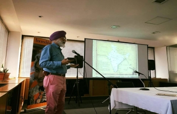 Presentation about tourism  by mountaineer and environmentalist, Mr Madip Singh Soin