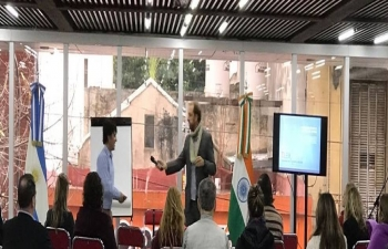 Embassy of India in Buenos Aires participated in the Program for stress management
