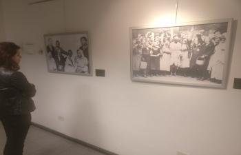 Photo exhibition on Mahatma Gandhi at Almirante Brown, dias de la India en Brown IndiaAt70