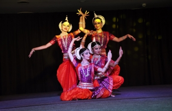 Ranjana Gauhar and her team performed Odissi dance in the city of Salta on 7 November 2017