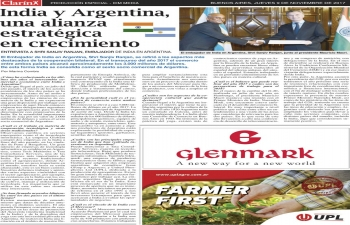 Local media reports on India-Argentina relations and Indian classical Odissi dance performance in Argentina