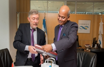 Ambassador Mr. Sanjiv Ranjan made a protocolar visit to Dr. Alejandro Ceccatto, National Council of Scientific and Technical Investigations (CONICET), Argentina,