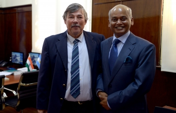 The undersecretary of Agricultural Markets of the Ministry of Agribusiness,  Argentina, Mr. Jess Silveyra, held a meeting with the Ambassador of the Republic of India in Argentina, Sanjiv Ranjan