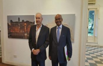 Ambassador of India, Mr. Sanjiv Ranjan visited Vincent Lopez, Buenos Aires.