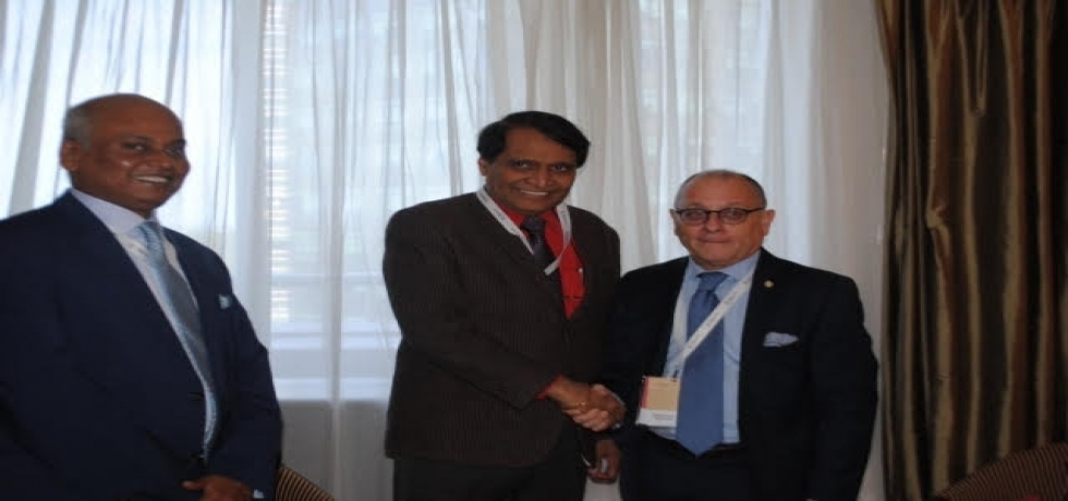 Hon. Minister of Commerce and Industry, Shri Suresh Prabhu meets Mr. Jorge Faurie, Foreign Affairs Minister, Argentina at Buenos Aires.