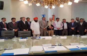A delegation from Haryana State of India led by Honorable Minister of Agriculture of Haryana Mr. Om Prakash Dhankar visits Argentina and held a meeting with officials of Ministry of Agriculture of Argentina.