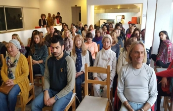 International Yoga Day 2018 celebrations in Mar De Plata, Argentina