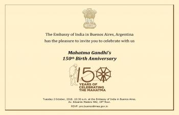 Celebration of 150 Birth Anniversary of Mahatama Gandhi
