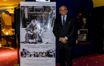 "Ambassador Sanjiv Ranjan attended a premiere of the film ""Pesando en el"" directed by Mr. Pablo Cesar."