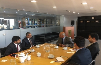 Confederation of Indian Industry(CII) Young Indians delegation had a meeting with the Ambassador, Shri Sanjiv Ranjan