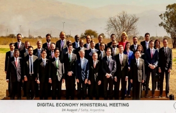 Honorable Minister of Electronics & Information Technology of India, Shri Ravi Shankar Prasad attended G 20 Ministeral meeting on Digital Economy at Salta, Argentina