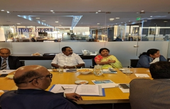Ambassador Shri Sanjiv Ranjan received a  delegation led by Shri Sellur Raju, Hon`ble Minister for Co-operation, Statistics and Ex-Servicemen Welfare of Tamil Nadu who participated in the General Assembly of the International Co-operative Alliance in Buenos Aires