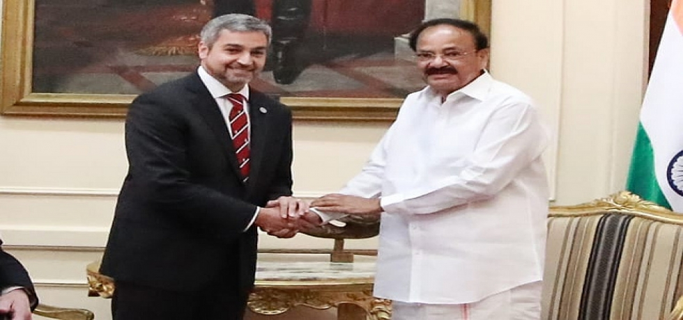Vice President meets Mario Abdo Benitez, President of Paraguay in Asuncion (March 06, 2019)