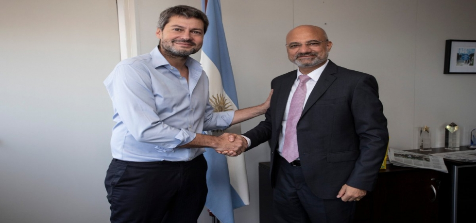 Ambassador Dinesh Bhatia meets with the Minister of Tourism & Sports of Argentina, Mr. Matías Lammens