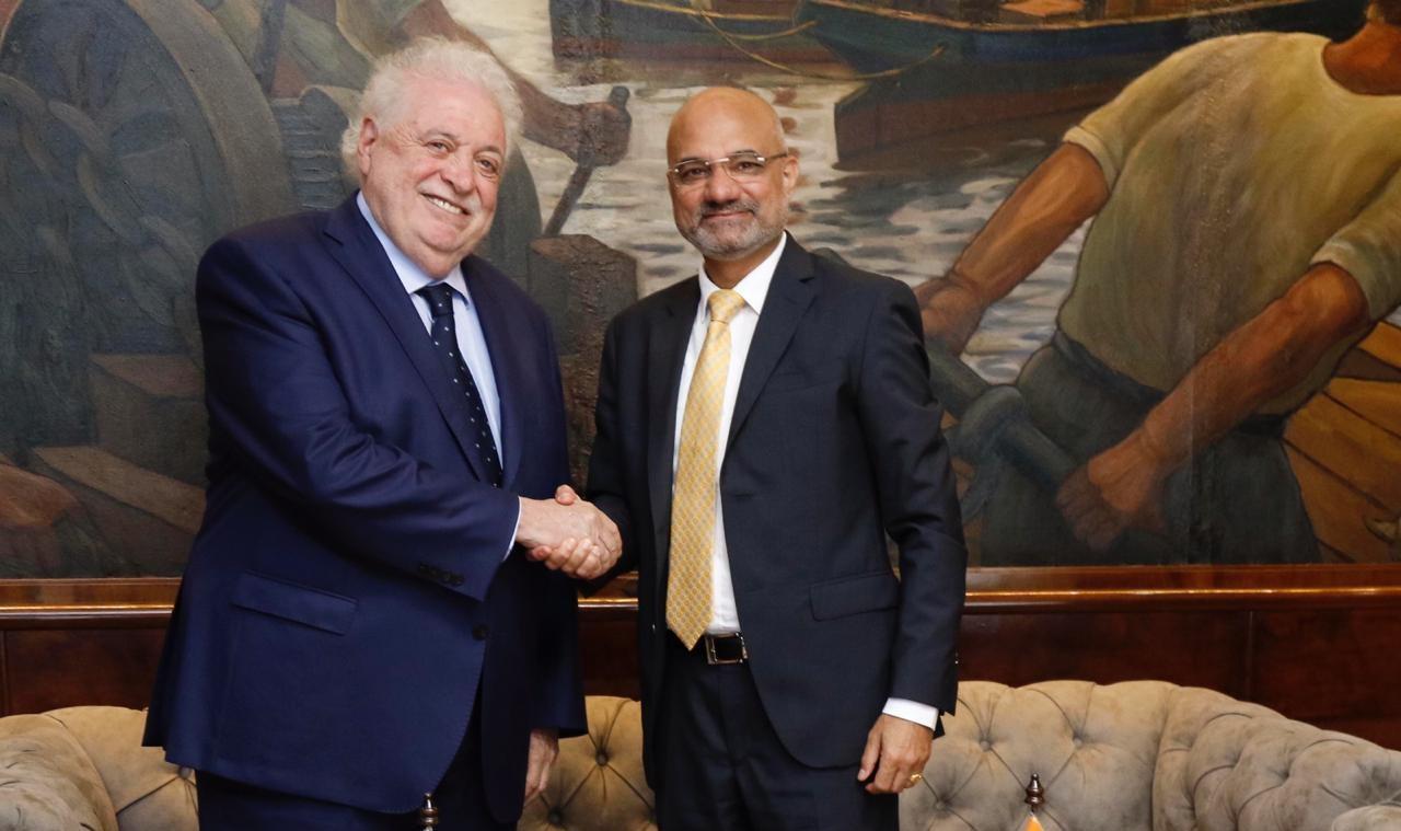 Minister for Health of Argentina Ginés González García receives Ambassador Dinesh Bhatia