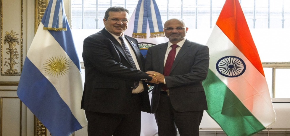 Ambassador of India calls on Minister of Culture from Argentina, Mr. Tristán Bauer