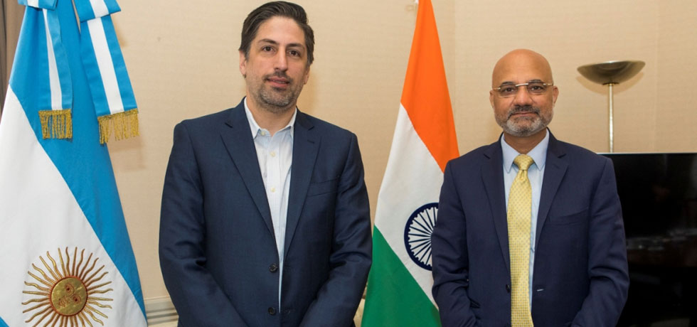 Minister of Education of Argentina, Mr. Nicolás Trotta, meets with Ambassador Dinesh Bhatia