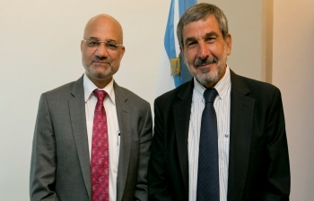 Minister for Science, Technology & Innovation of Argentina Dr. Salvarezza welcomed Ambassador Dinesh Bhatia