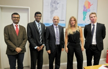 The National Director of Migrations welcomes the Ambassador