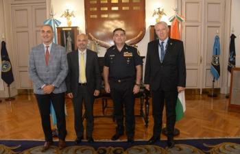 Chief of Police Juan Carlos Hernández receives Ambassador of India Dinesh Bhatia