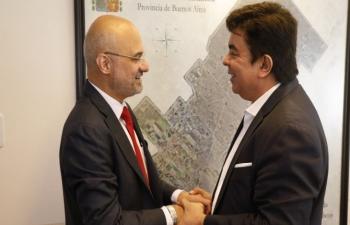 The Ambassador pays a visit to La Matanza Mayor Fernando Espinoza