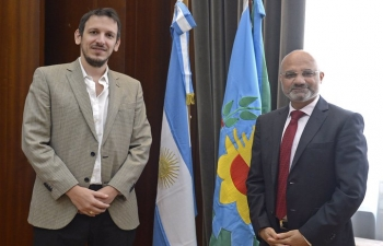 Meeting with Juan Cuattromo, the new President of Banco Provincia