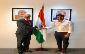 Ambassador Dinesh Bhatia received Lucas Portela, President of Comuna 1, Gobierno de la Ciudad de Buenos Aires