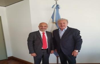 Secretary of Worship for Argentina Guillermo Oliveri meets Ambassador Bhatia