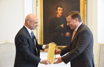 Governor of Mendoza Province Mr. Rodolfo Suárez meets Ambassador Dinesh Bhatia