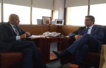 Ambassador Bhatia receives Governor of Chaco Province Mr. Jorge Capitanich