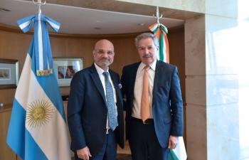 Argentine Foreign Minister, H.E. Felipe Solá meets Ambassador of India Dinesh Bhatia