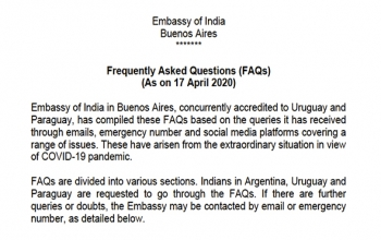 Update on COVID-19 - FAQs Assistance To Stranded Indians  (as on 17 April)