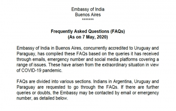 Update on COVID-19 - FAQs Assistance To Stranded Indians (as on 11 May)