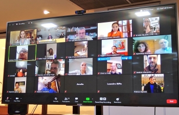 Ambassador Dinesh Bhatia convened video conference with Yoga schools in Argentina to discuss popularization of Yoga & Ayurveda in times of COVID-19