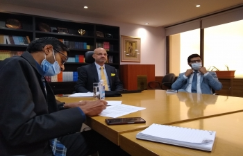 Ambassador Dinesh Bhatia held video meeting with Secretary for Access to Health Carla Vizzoti and team