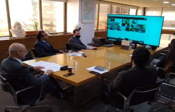 Ambassador Dinesh Bhatia addressed virtual business meet on untapped potential between India and Argentina in ICT s