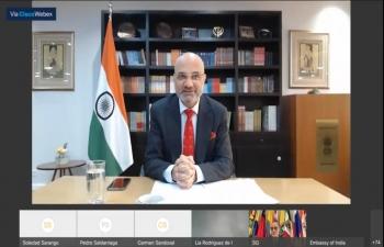 Ambassador Dinesh Bhatia joined video conference hosted by Asociación Latinoamericana de Integración (ALADI)
