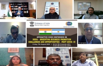 Ambassador Dinesh Bhatia addressed PHD Chamber on post COVID-19 business opportunities between India and Argentina