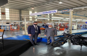 President Alberto Fernández inaugurated the new plant of Royal Enfield motorcycles
