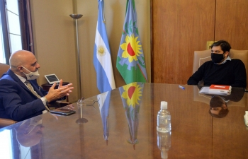 Meeting with Chief of Staff Carlos Bianco in Buenos Aires Province
