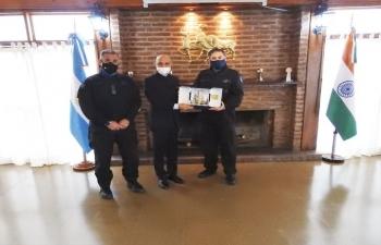 Ambassador Dinesh Bhatia had the pleasure to meet again the Chief of Argentine Federal Police Juan Carlos Hernández