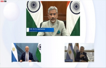 "EAM of India and FM of Argentina join Think Tank Dialogue ""India and Argentina in the New World Order"""