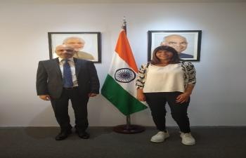Ambassador Dinesh Bhatia had the pleasure to receive Silvia Mercado