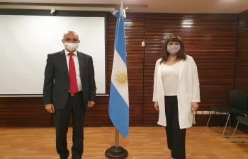 Meeting with Rosario Lufrano, President of National Public Media of Argentina TV Pública & Radio Nacional AM870