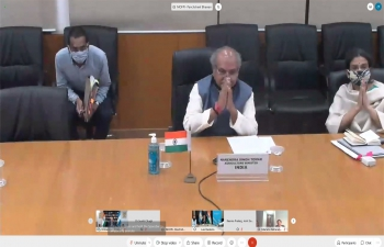Indian Minister of Department of Agriculture, Cooperation & Farmers Welfare, Ministry of Agriculture & Farmers Welfare, HE Narendra Singh Tomar met virtually with Argentine Minister of Ministerio de Agricultura, Ganadería y Pesca HE Luis Basterra