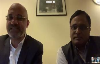 Ambassador Dinesh Bhatia hosted virtual signing of MOU between KABIL & CAMYEN