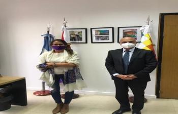 Ambassador Dinesh Bhatia meet Minister of Women, Genders and Diversity, Eli Gomez Alcorta