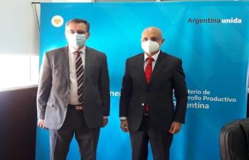 Ambassador Dinesh Bhatia met with Mining Secretary Dr. Alberto Hensel at Ministerio de Producción de la Nación
